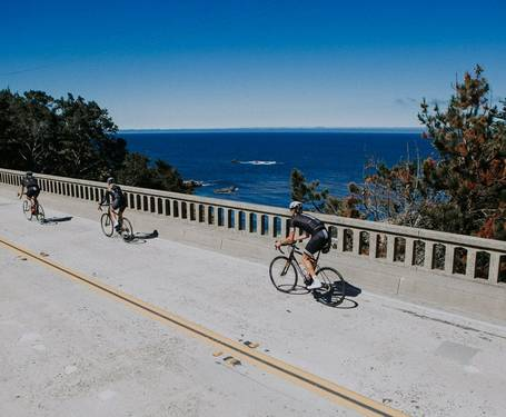 Summer road cycling