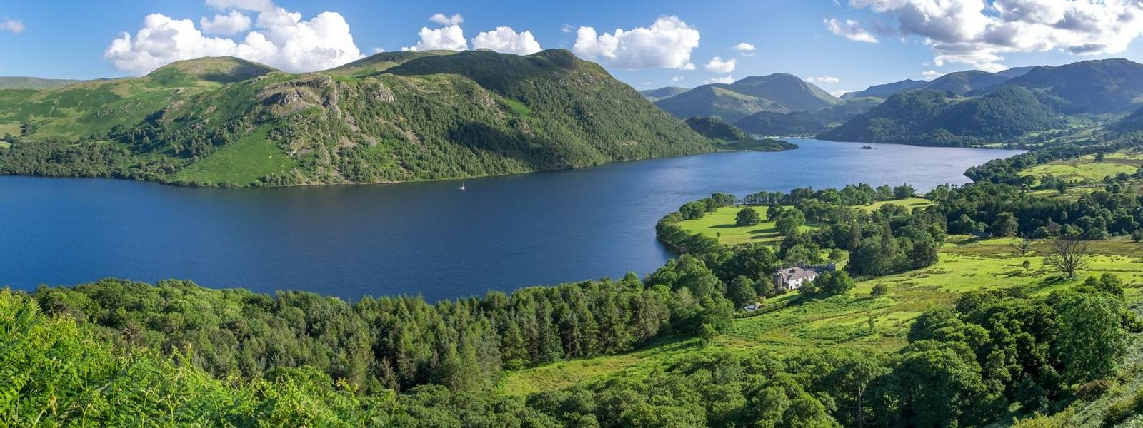 View of Ullswater Lake, Lake District, UK