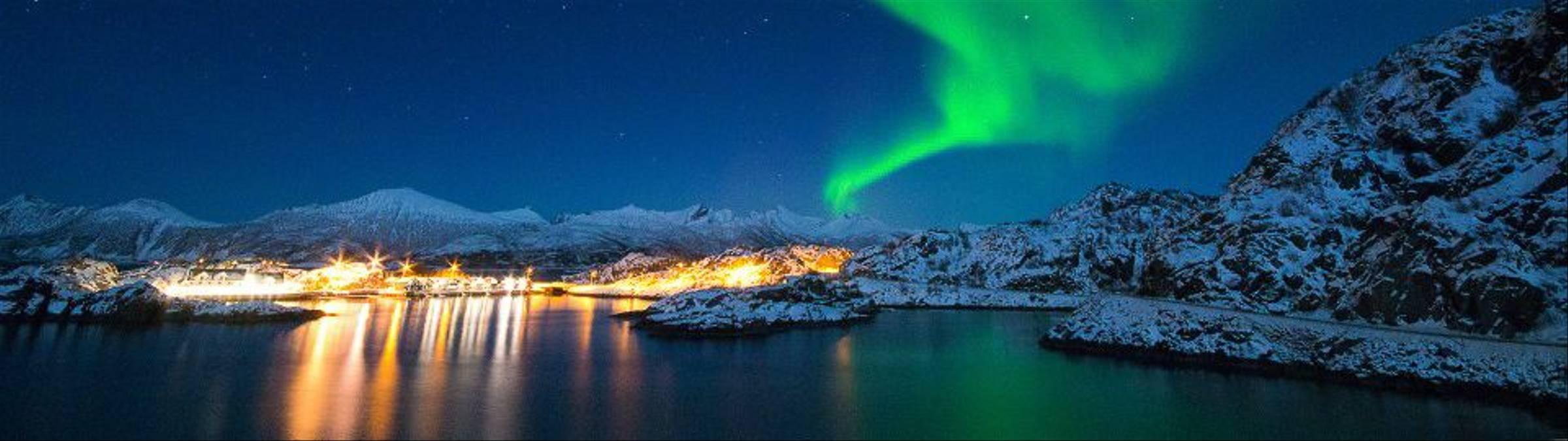 Northern Lights Over Hamn I Senja 2