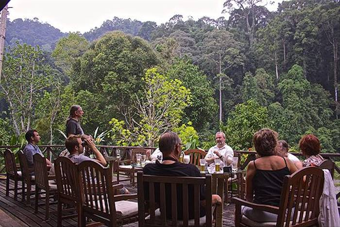 Group at the Borneo Rainforest Lodge (Dani Free)