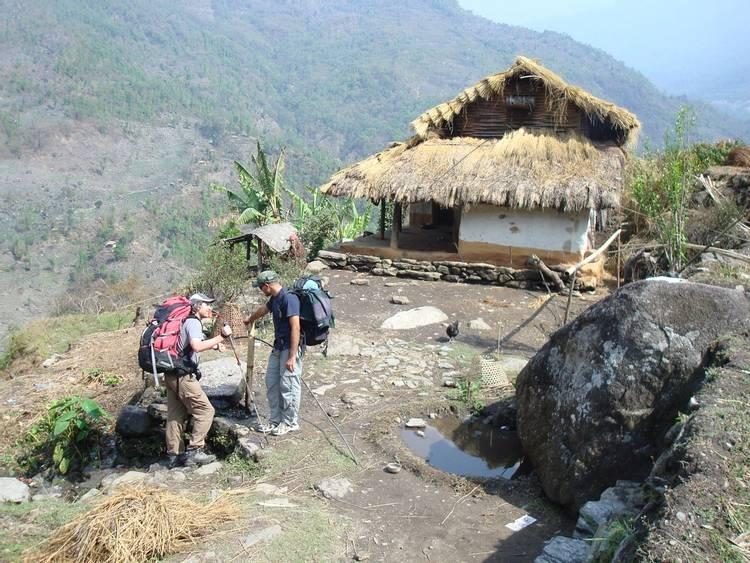 Traditional house in Makalu region of Nepal