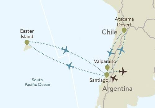 Chile Itinerary Maps