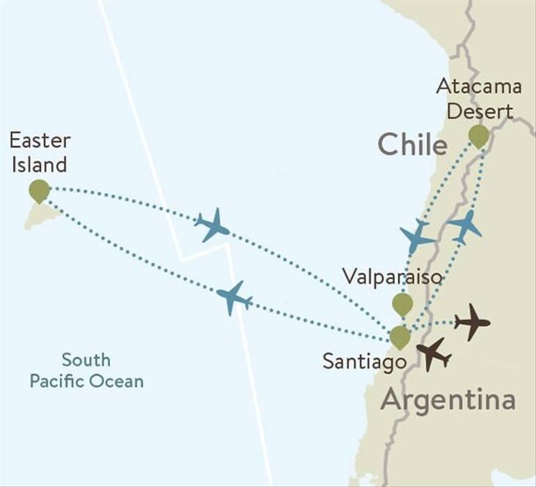 Chile Itinerary Maps