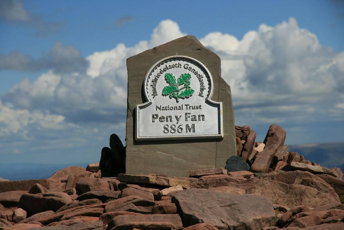 Pen y Fan summit sign.JPG