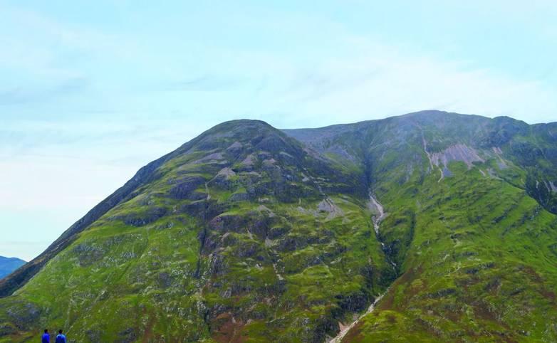 Aonach Eagach ridge above Loch Achtriochtan in Glencoe, Scotland