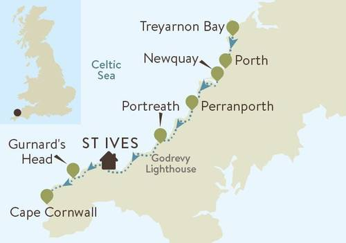 North Cornwall Coast Map