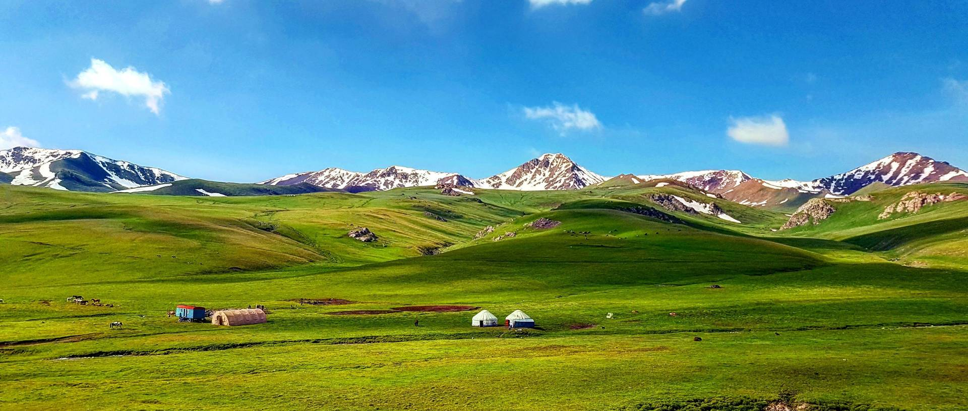 Nomadic Yurt Camp in Lake Song kol, Kyrgyzstan