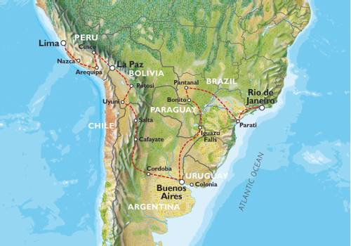 LIMA to RIO via BUENOS AIRES (54 days) Southern Trans Oceanic