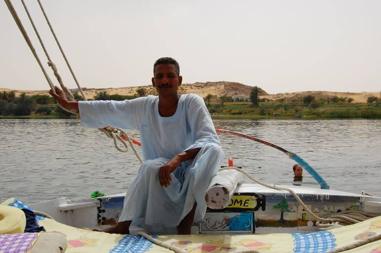 Achmed Fausi, our Captain on the Felucca - Egypt