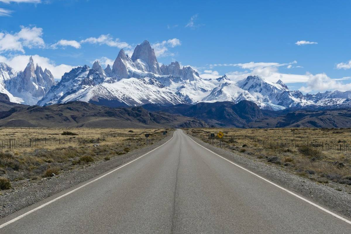 Road to Monte Fitz Roy in Argentina