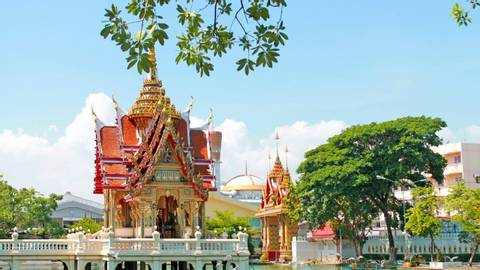 The temple in bangkok Thailand.