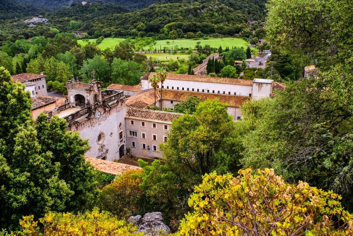 Santuari de Lluc monastery in Mallorca, Spain