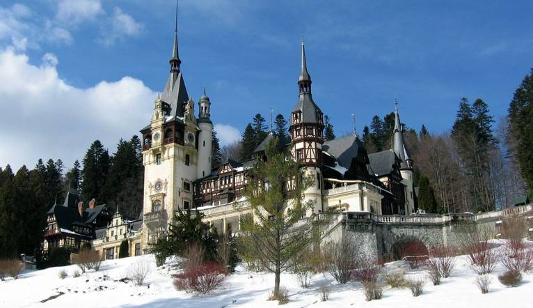 """Peles castle"" from Sinaia, Romania, Eastern Europe"