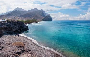 View of the beach of the municipality of La Aldea in Gran Canaria, Canary Islands, Spain.