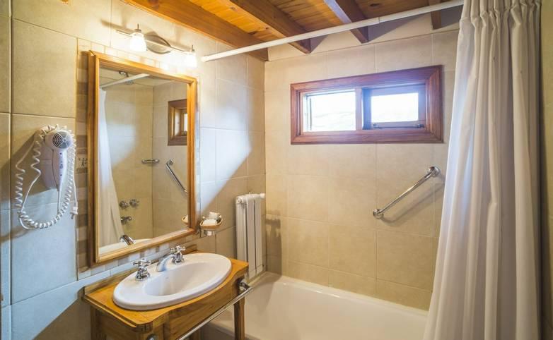 Patagonia -Bathroom at Inn Hosteria Senderos, El Chalten, Santa Cruz Province, Argentinian , Argentina-2.JPG