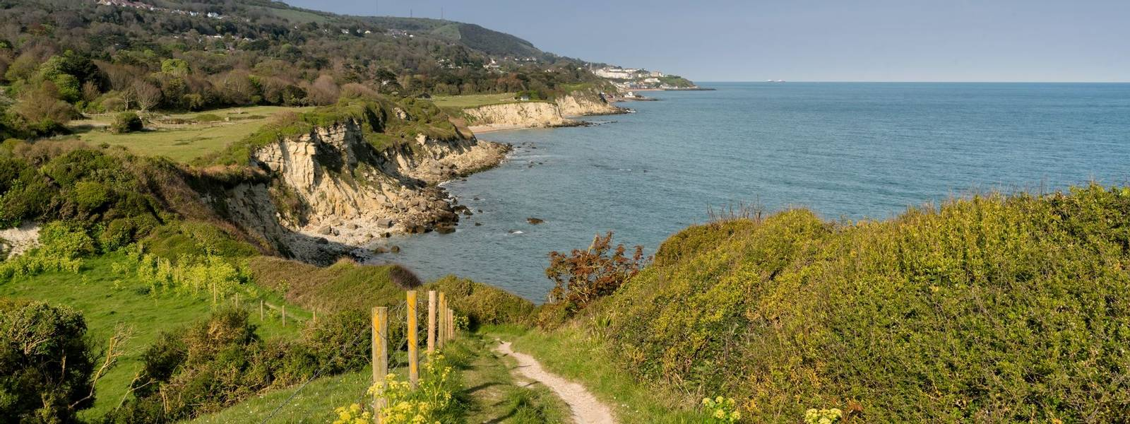 Sir Richard's Cove, St. Lawrence - Isle of Wight -Looking east towards Ventnor