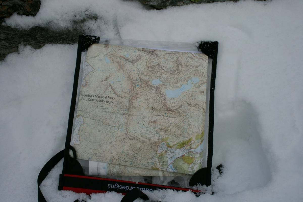 Map of Mount Snowdon in the snow