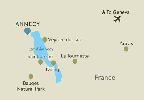 French Alps Itinerary Map