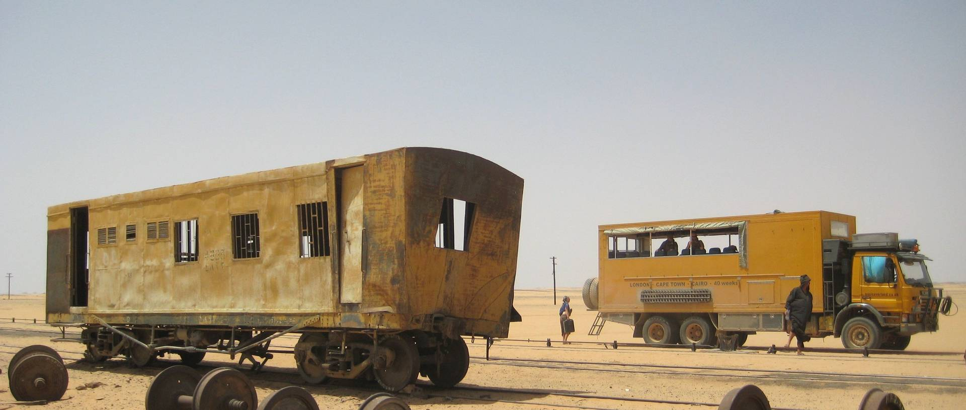 Truck With Sudanese Train Carriage