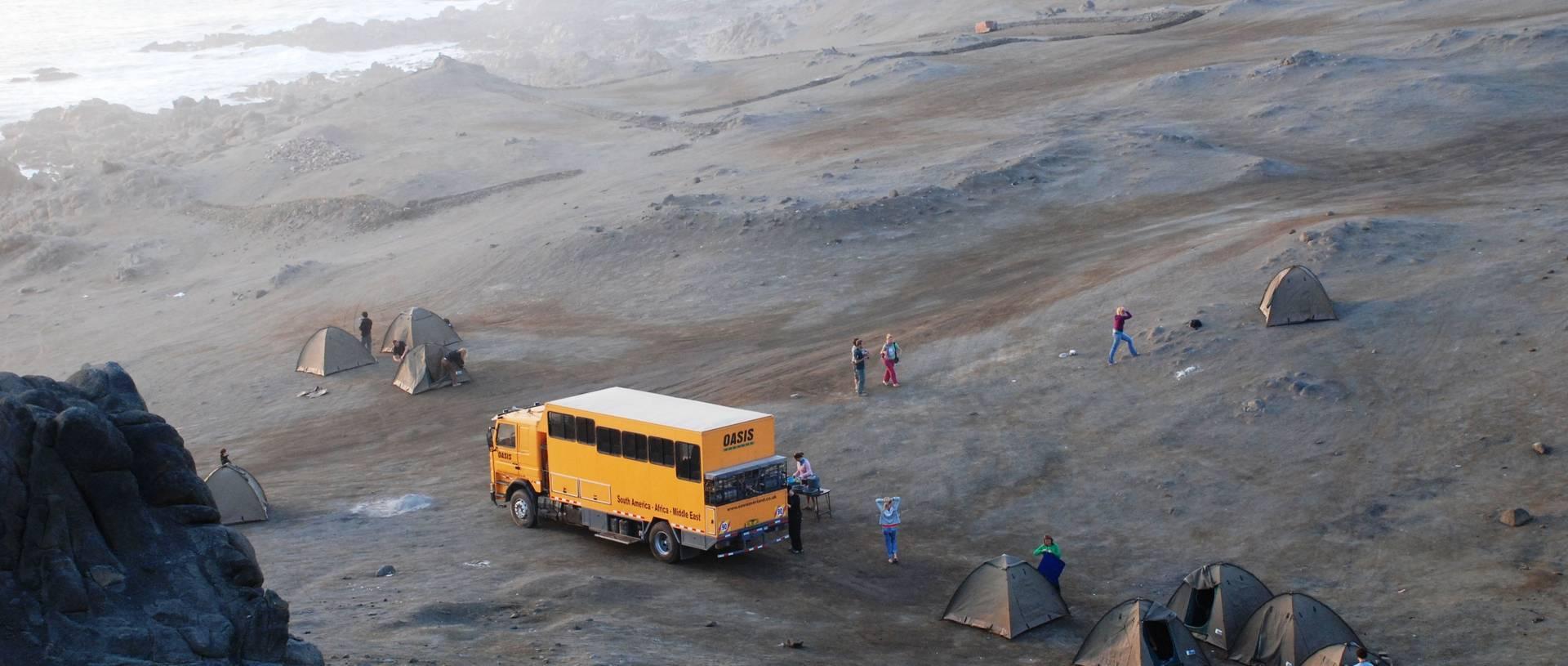 Bush Camp, Peru, Truck & Tents