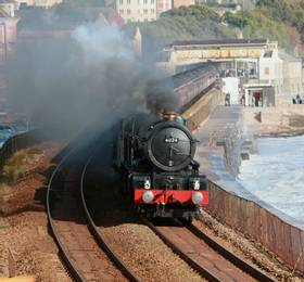 Dartmouth, Coal-fired Paddle Steamer and Steam Train