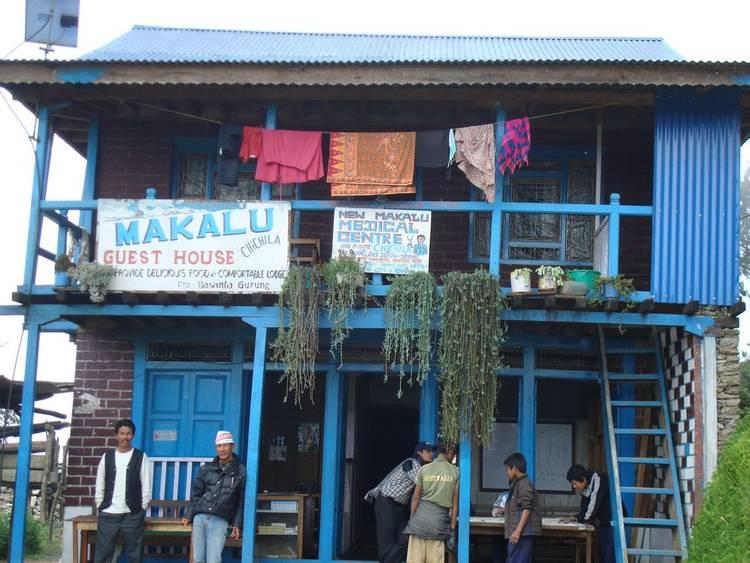 Teahouse lodge in Makalu trekking region of Nepal