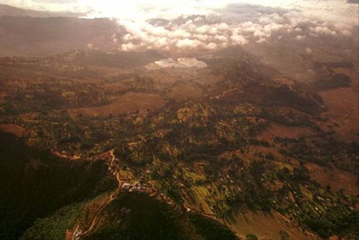 Flying into Nepal