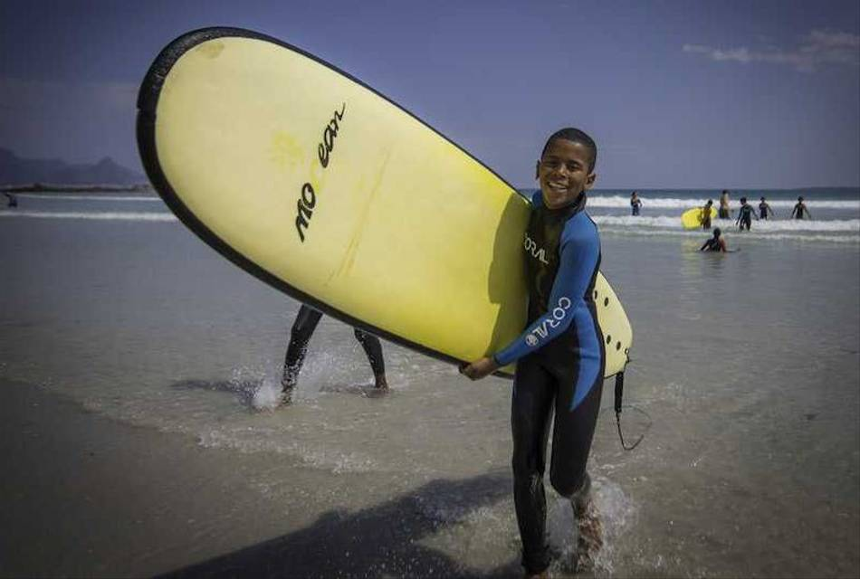 A young surfer - Adventure Surf Club Project Cape Town