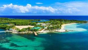 Panoramic view of the Roatan Island, Honduras