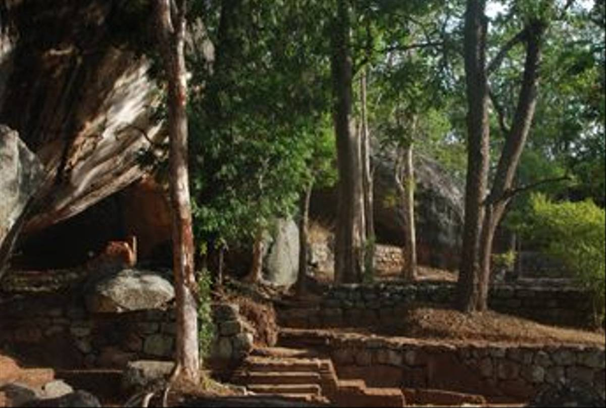 The start of the walk up Sigiriya Rock (Thomas Mills)