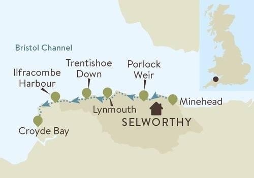 Somerset N Devon Coast Map