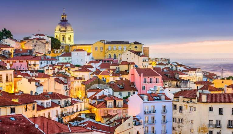Shutterstock 276731033 Lisbon, Portugal Twilight Cityscape At The Alfama District.
