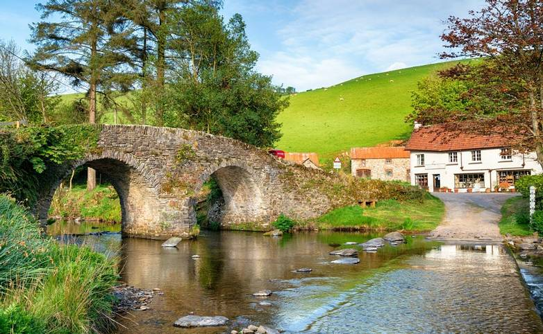Malmsmead Bridge on Exmoor National Park
