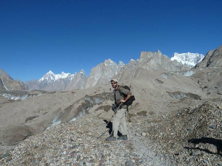 Baltoro glacier on K2 Base Camp trek in Pakistan
