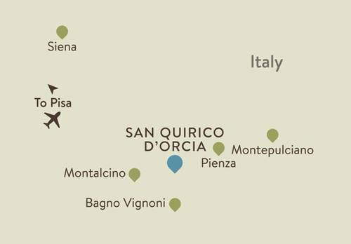 San Quirico Itinerary Map