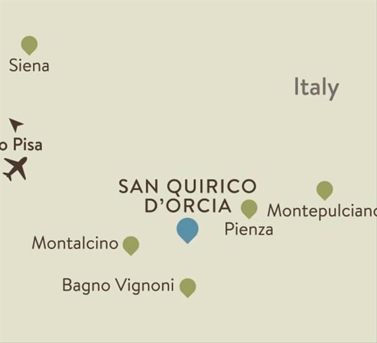 San Quirico Itinerary Map