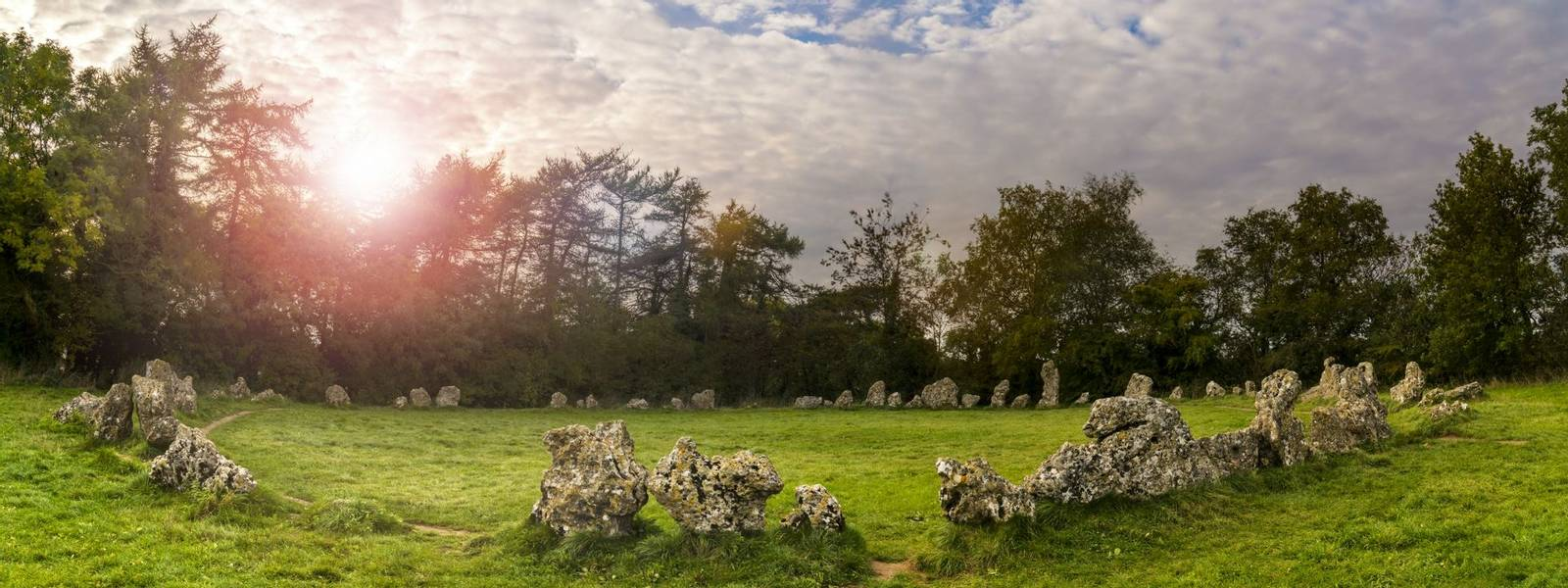 Rollright stones ancient monument in Oxfordshire