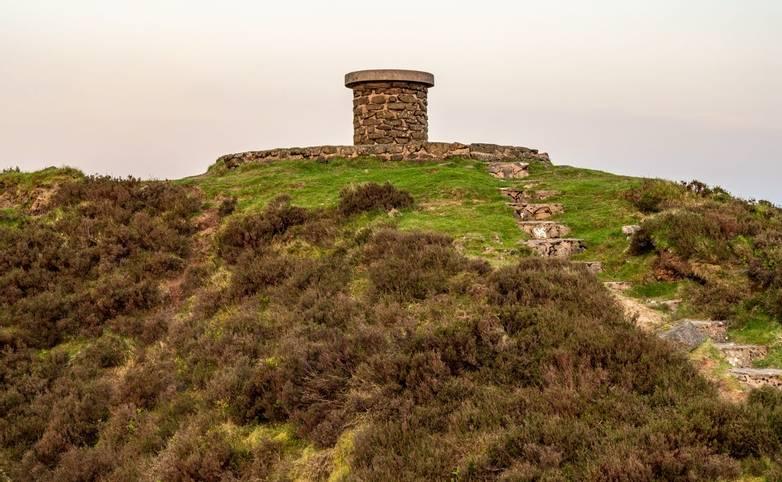 Stones on top of Abdon Burf, near Cleobury North, Shropshire, England, UK