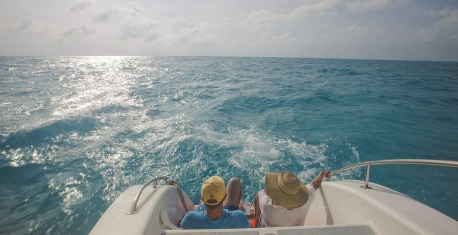Couple on Catamaran