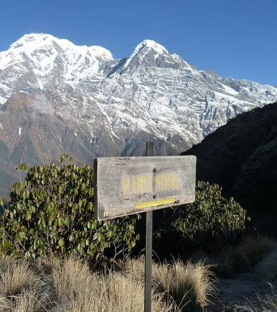 Annapurna South and Mount Hiunchuli