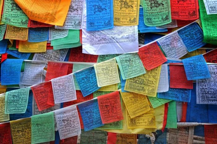 Buddhist prayer flags, Bhutan shutterstock_55017157.jpg