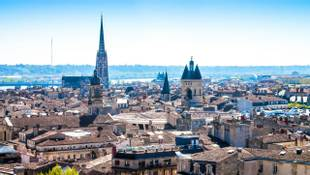 Panoramic view of the city of Bordeaux in France