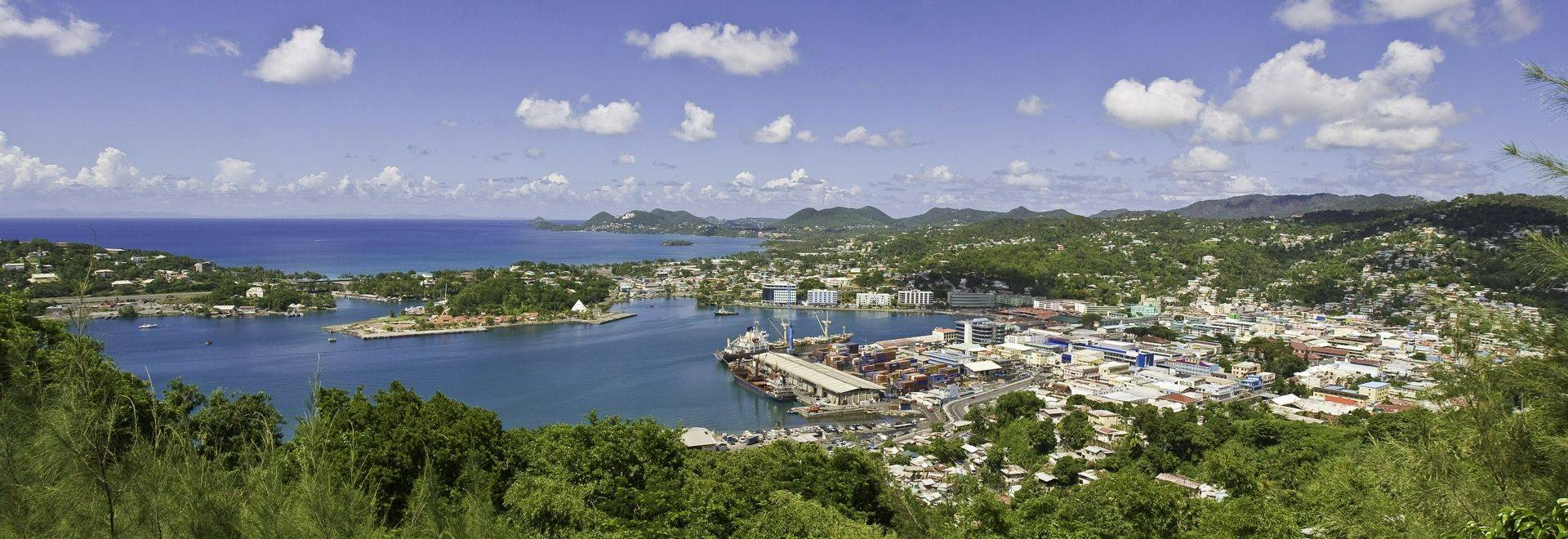 Castries from the Morne