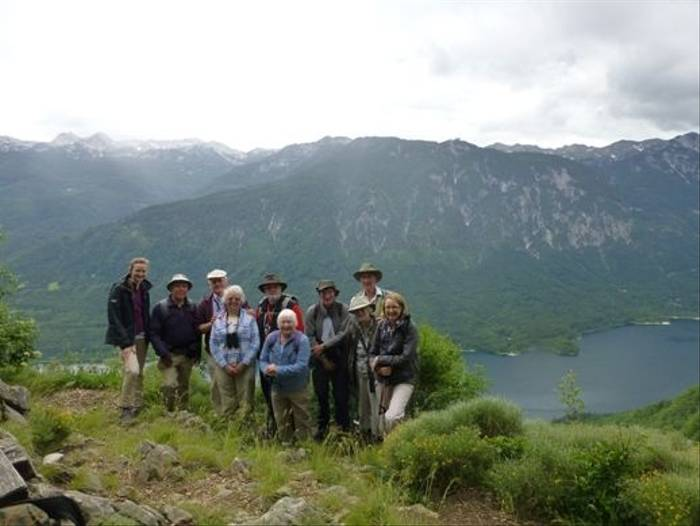 Group above Lake Bohinj
