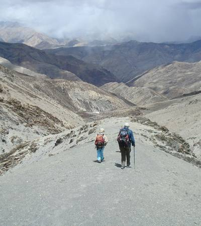 Descending Saldang La (5,060m)