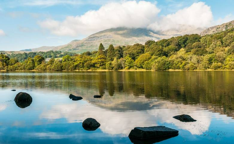 Coniston Water in the English Lake District