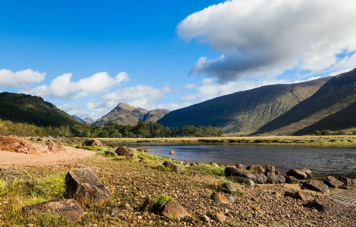 Loch Etive in Glen Etive in the Glen Coe area in the Scottish Highlands