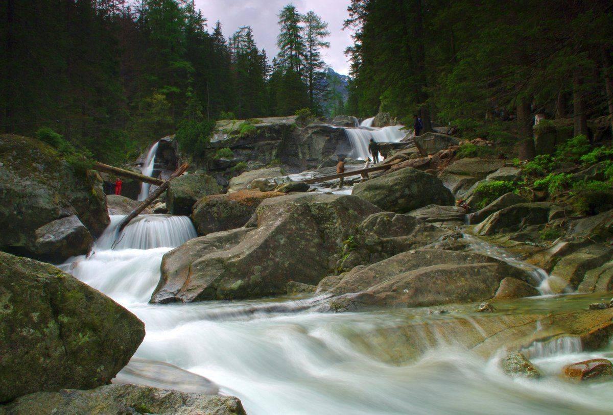 Slovakia Cascades of the Cold Creek Waterfalls.jpg