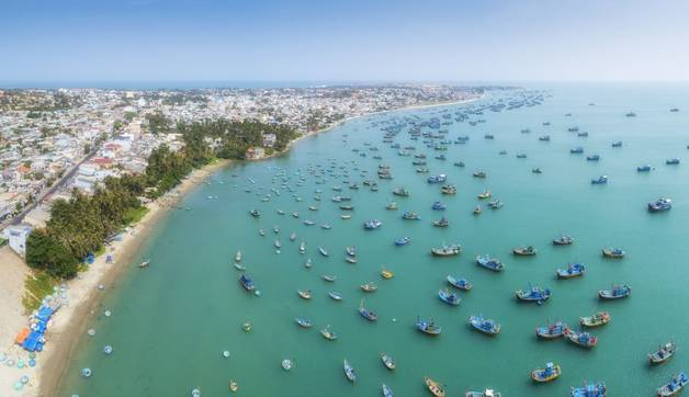 GettyImages 940557452 Aerial Drone View Of Thousand Of Boat And Ship In Mui Ne Village, Phan Thiet, Vietnam