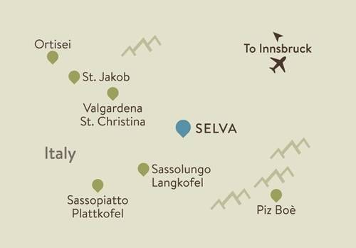 Selva Itinerary Map